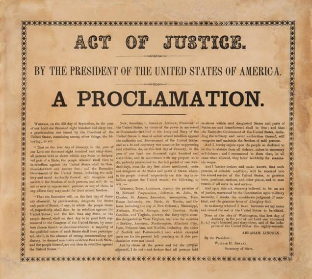 The Preliminary Emancipation Proclamation