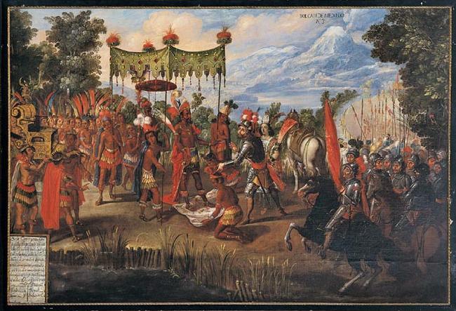 The Meeting of Cortés and Montezuma