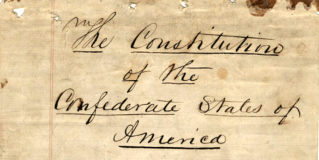 Constitution of the Confederate States