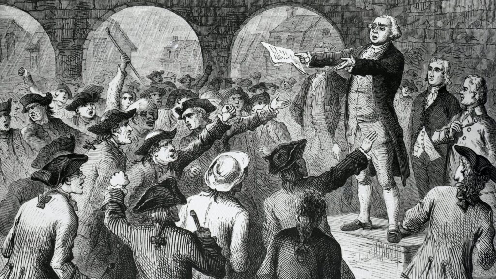 Leading Bostonians War about the British Threat to the Colonists Liberties