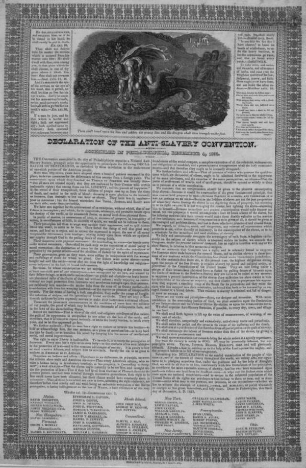 Declaration of the Anti-Slavery Convention